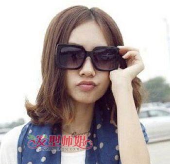 中分适合戴眼镜吗_戴眼镜的女生适合什么样的短发 眼镜美眉短发造型_发型师姐