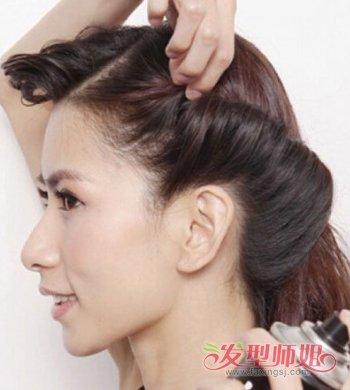 发量少如何梳头发步骤图 头发少怎么样梳好看
