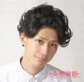 男学生烫头发发型 男孩波浪发型怎么吹