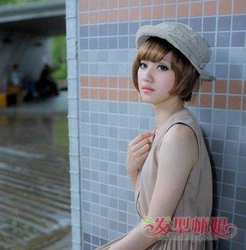大梨型脸适合短发头型图片 洋梨脸适合圆刘海吗