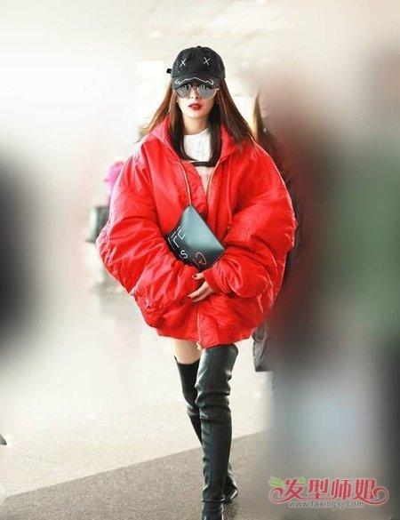 杨幂江疏影最爱飞行员夹克 众女星教你飞机员夹克和发型的搭配