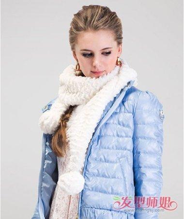 扎发让出行变简单美 温暖冬装不再是束缚