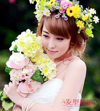 怎么样的发型最可爱 唯美可爱新娘发型图片-轻博客