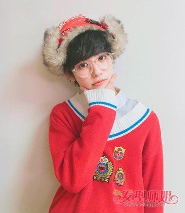 原宿蓝色系图片|日系原宿美少年发型 漫画系男生后藤优太郎发型