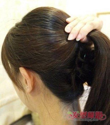 长的直发又多怎么盘头发 长直头发盘头发图解