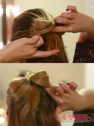 头发做蝴蝶结的打法 头发蝴蝶结的打法