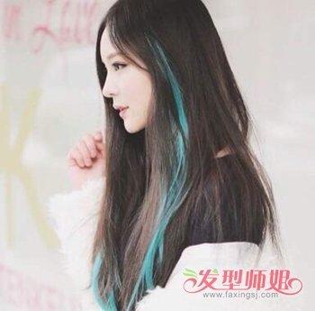 头发里有彩色丝带叫什么 头发彩丝条扎接法