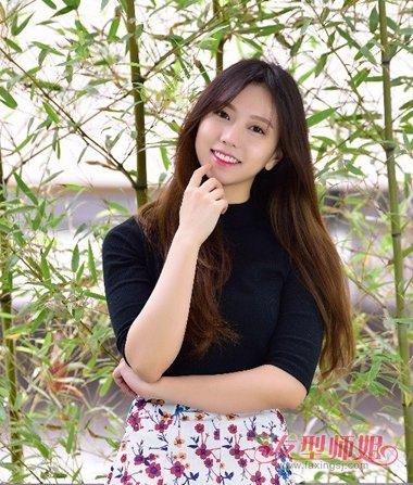 韩国中分直发女_韩国美女中直发型 直发最简单好看的发型_发型师姐