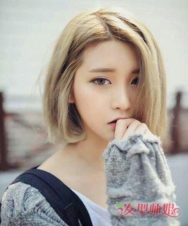 短头发女生皮肤_短头发漂颜色的图片 黄皮肤中短发适合什么颜色的头发图(2)_发型 ...
