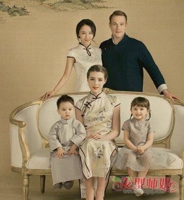 宝宝拍照造型_马雅舒带娃拍中国风写真 明星宝宝儿童发型很酷萌_发型师姐