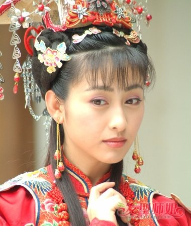 回族第一美女法提麦·雅琪发型 古装超有汉族韵味儿