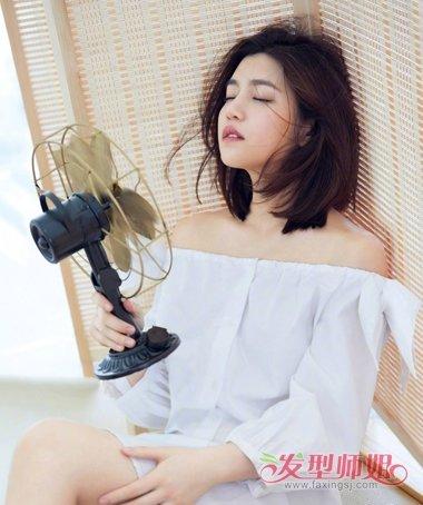 陈妍希齐肩发能上封面也能上街头 街拍陈妍希齐肩发扎发