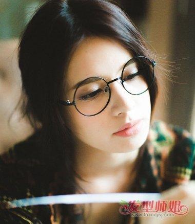 圆框眼镜适合什么发型 2018带眼镜发型