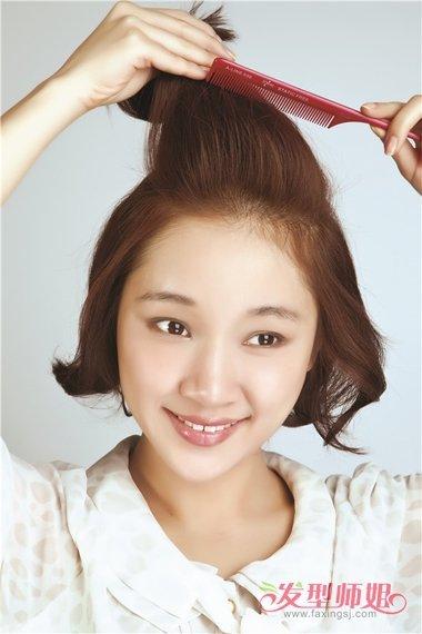 教短头发刘海怎么扎发 短发刘海长了怎么扎图解