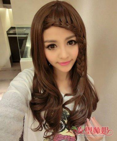 刘海旁边的头发怎么编 刘海编头发花样