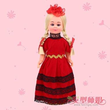 女娃娃梳辫子发型 小孩娃娃发型图片女
