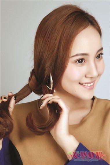 头发少中发编发图解 适合头发少的编发