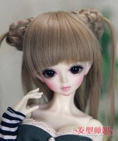 公主头发型怎么编_芭比娃娃玩具怎样扎头发 简单又好看为芭比娃娃扎头发步骤图 ...