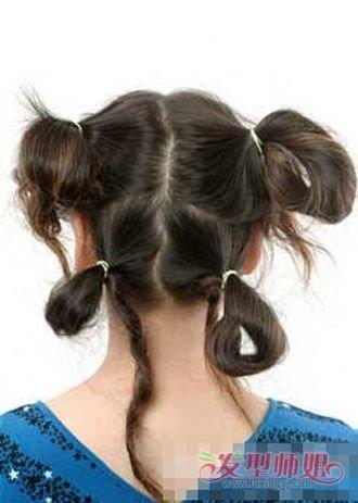 小朋友扎头发及步骤及图片 小朋友头发的扎法要图解