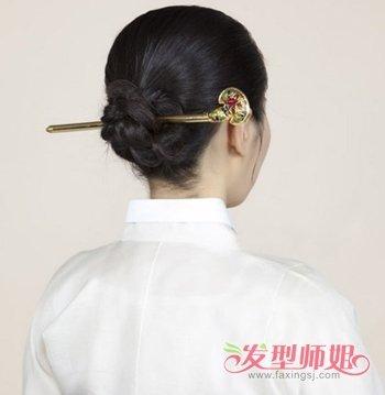 韩国古代妇女盘发发型 古代发式编发教程