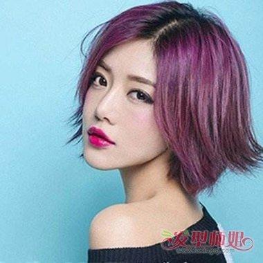 紫红色头发适合什么发型 葡萄紫红发型