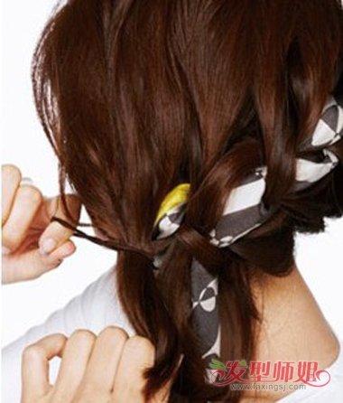 长头发简单扎法图解_用丝巾扎头发图解 如何用丝巾扎头发_发型师姐