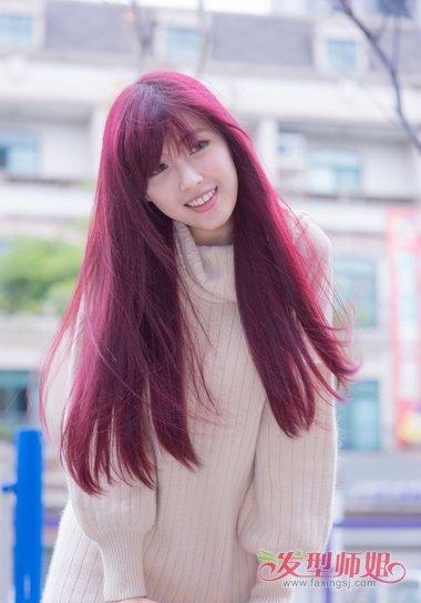 绚丽发型_紫红色和酒红色头发的区别 绚丽紫头发图片(3)_发型师姐