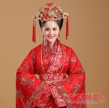 汉代女子发髻_汉朝女子嫁衣发型 汉代女子出嫁发型盘法_发型师姐