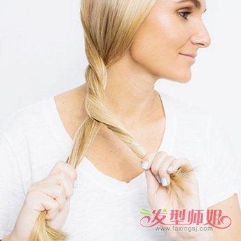40岁女性盘发发型图片 长发的简易盘法步骤