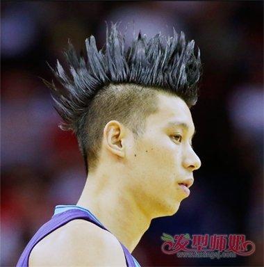 林书豪梳出的垄沟头 男士帅气有范发型