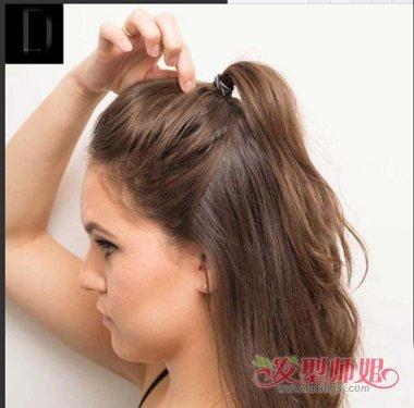 长发半丸子头扎法 什么脸型适合丸子头