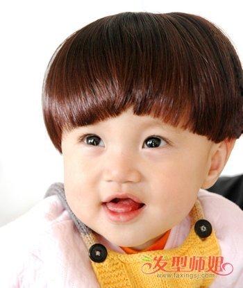 婴儿西瓜头发型图片 小女孩西瓜头短发发型
