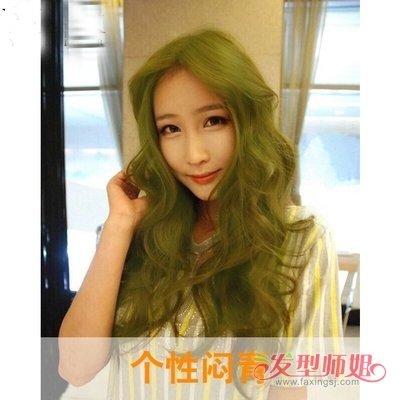 打蜡闷青色图片_闷青色头发打蜡效果图 闷青打蜡色头发图片(2)_发型师姐