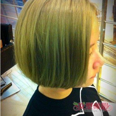 打蜡闷青色图片_闷青色头发打蜡效果图 闷青打蜡色头发图片_发型师姐