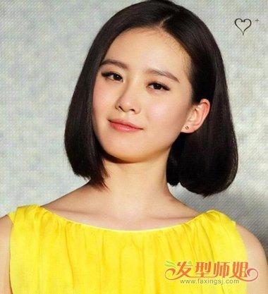 刘诗诗拍的卷发 刘诗诗内扣发型图片