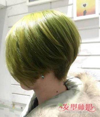 深闷青亚麻色头发图片_闷青色头发适合什么人 深闷青亚麻色头发图片(3)_发型师姐