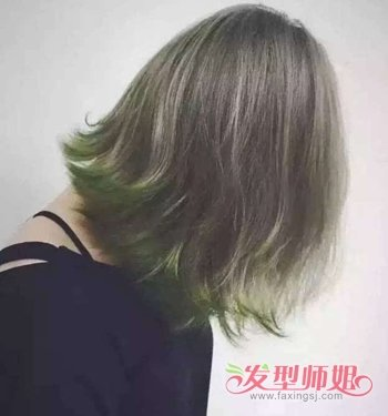 深闷青亚麻色头发图片_闷青色头发适合什么人 深闷青亚麻色头发图片(2)_发型师姐