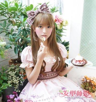 斜刘海直发发型扎法_lolita发带怎么带 lolita发带的正确戴法(3)_发型师姐