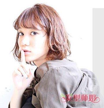 女生有层次的波波头发型图片 女生空气刘海内扣波波头发型