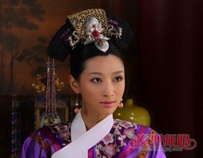 满族旗头头饰的做法 清朝妃子等级的旗头造型