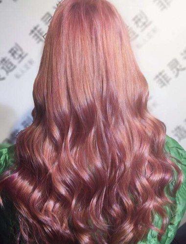 玫瑰金头发颜色的图片 玫瑰金颜色头发怎么染