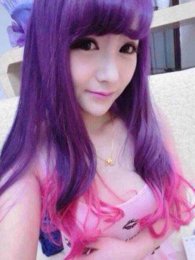 香芋紫色头发颜色图片 香芋紫头发需要漂吗