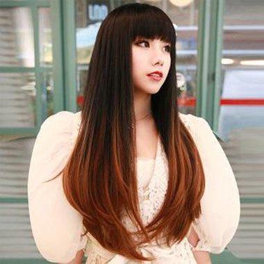 浅亚麻青色头发图片_直发发尾染色的图片 2020发尾染色的图片_发型师姐
