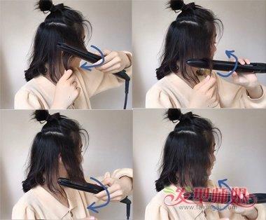 韩国女生最热卷发棒烫蛋卷头教程 齐肩发烫蛋卷头这样来最棒