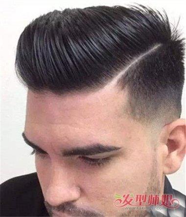 拉莫斯一道杠发型_一道杠两边铲潮男短发打造 无刘海层次卷发造型呈现(4)_发型师姐