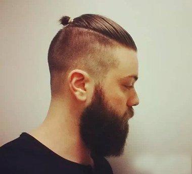 后脑勺潮流男生头发型 光头后脑勺图片