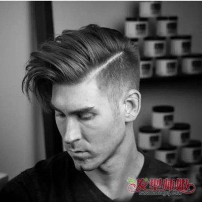 大长脸男生侧剃头标准发型 职业潮男修剪出的短头发