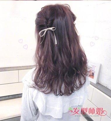 [淑女的品格]淑女卷能不能配半扎发? 猫耳式半扎发是百搭哦