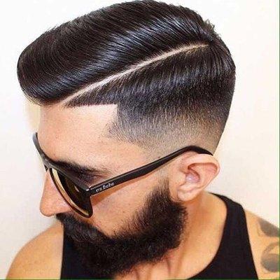 侧分油头发型图片 欧美男生侧分油头发型