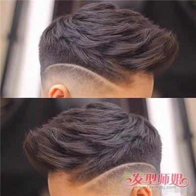 男生两边剃飞机头烫发打造 侧颜杀男理短头发造型系